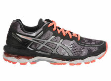 NEW WOMENS ASICS GEL-KAYANO 22 RUNNING SHOES TRAINERS BLACK / FLASH CORAL / WHIT