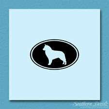 Belgian Sheepdog Oval Dog - Decal Sticker - Multiple Colors & Sizes - ebn3633