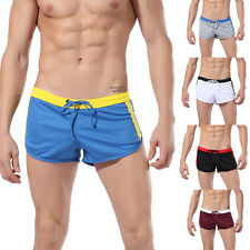 Mens Slim Swimwear Trunk Swimsuit Beach Swim Pants Shorts Bikini Boxer Brief