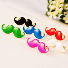 Cute Fashion Curled Mustache Moustache Beard Two Fingers Ring Adjustable CA