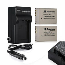 1600mAh NB-7L NB7L Battery + Charger for Canon Powershot G12 G11 G10 SX30 IS