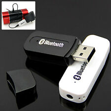 3.5mm USB Bluetooth Stereo Audio Music Receiver Adapter Dongle For Car Speaker