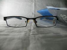 Foster Grant Bailey B Blue & Black Rectangular Reading Glasses with Case +1.25