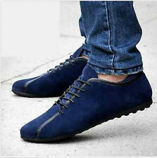 Stylish Mens Suede Lace Up Casual Loafer Moccasin-gommino Driving Shoes Sneaker