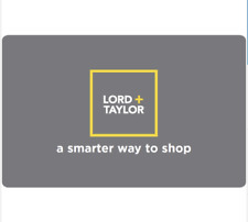 Lord & Taylor Gift Card - $25 $50 or $100 - Email delivery