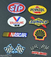 NASCAR F1 MOTOR RACING PATCH IRON SEW ON EMBROIDERED  SUNOCO OIL GAS STP PETROL
