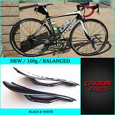WHITE Carbon Fibre Seat Bicycle Saddle MTB Road Mountain Bike Racing Prologo NEW