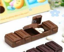4pcs Chocolate Style Pill Box Vitamin Storage Case Medicine Jewelry Organizer