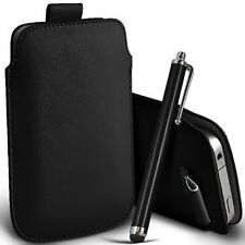 PU Leather Pull Tab Pouch Case & Large Pen for Alcatel Idol 2