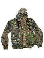 D35 Mens Camouflage Camo Tree Print Lined Zip Through Hoodie Hooded Top Jacket