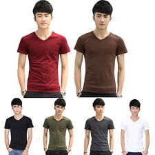 Sexy Fashion Men's Stylish Slim Fit Short Sleeve Casual Polo Shirts T-shirt Tops