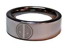 Marvel Comics DEADPOOL Logo Stainless Steel BAND RING