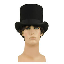 MaD HaTTeR SteamPUNK Victorian Gentleman Top Hat Christmas Dickens Magic Black