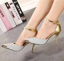 New Women's Formal Strap Ankle Stilettos High Heels Pointed Toe Sexy Shoes Size