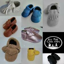 Leather Baby Shoes moccs moccasins soft sole (Australian Company)