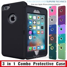 Hybrid ShockProof Protector Impact Rubber Hard Case Cover For iPhone SE 5 6 Plus