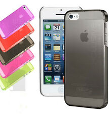 New Apple iPhone 5 5S SE Crystal Glossy Hard Plastic Back Case Cover Skin New SE