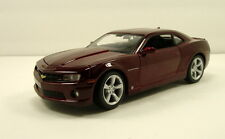 "Maisto 2010 Chevy Chevrolet Camaro SS 1:24 scale 8"" model car Burgundy M20"