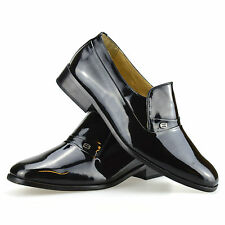 Mens Leather Patent Smart Slip On Formal Evening Party Wedding Dress Shoes Size
