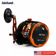 4BB Drum Trolling Reel RIGHT HAND 12Kg/18Kg Drag Power Boat Fishing Reel