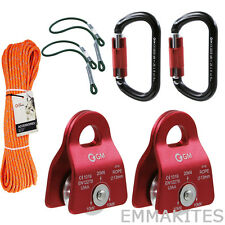 Tree Climbing Kit Set with Line and Prusik Eye to Eye For Arborist Rescue Haul