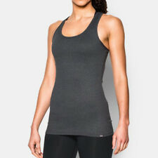 Under Armour Victory Womens Grey UA Tech Wicking Racerback Vest Tank Top