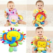 Kids Baby Toddler Soft Stuffed Plush Animal Toy Rattle Squeaky Developmental Toy