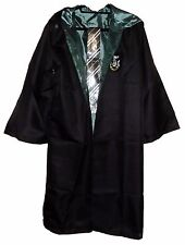 Harry Potter Slytherin School Crest Adult Size ROBE w/Hood and Tie