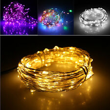20/40/50/100 LED Battery & Plug Micro Rice Wire Copper Fairy String Lights Party