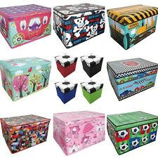 Kids Foldable Toy Storage Boxes - Football, Construction, Princesses, Lego..