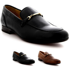 Mens H By Hudson Navarre Calf Leather Slip On Smart Office Loafers Shoes UK 6-12