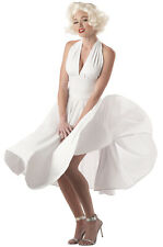 Brand New Sexy Marilyn Monroe White Dress Adult Halloween Costume