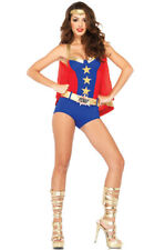 Brand New Superhero Comic Book Girl Dress Up Outfit Adult Costume