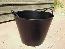 FIVE 5x Medium 26L Gorilla Bucket Tub Recycled Flexi Strong Builder Trug SP26GBK