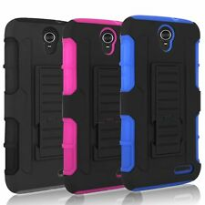 For ZTE Grand X3 Z959 Rugged Hybrid Hard Case Cover Belt Clip Holster Kickstand