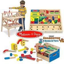 Melissa Doug Wooden Tool Work Bench Construction Box Set Early Learning Building