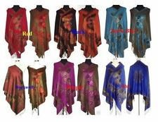 Hot Chinese Lady Women Pashmina/Silk Shawl/Scarf Wrap With Butterfly Multi-Color