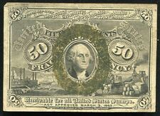 50 FIFTY CENTS SECOND ISSUE FRACTIONAL CURRENCY NOTE