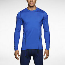 NWT$50 Mens L Nike Pro HYPERWARM Dri-FIT Fitted Crew DEFY COLD Baseball Track