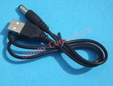 New PC Laptop USB Male to 5V DC 3.5mm x 1.35mm Barrel Connector Power Cable Cord
