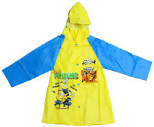 NEW KIDS RAINCOAT HOODIE COVER BOYS DRESS JACKET MINION DESPICABLE ME OUTWEAR