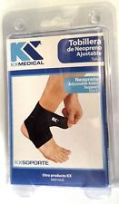 Neoprene Ankle Foot Support Adjustable Black Brace Elastic Wrap Protector NEW