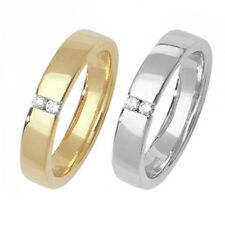 Hallmarked 9ct Wedding Ring Yellow Or White Gold Diamond Set