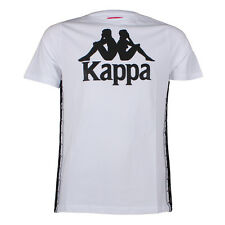 Mens Kappa Curlew White Crew Neck T Shirt