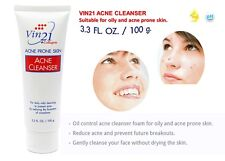 Vin21 ACNE CLEANSER face facial Foam oily & acne prone skin care Natural Extract