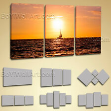 Contemporary Landscape Sunset Pier Hd Picture Prints Canvas Wall Art Framed