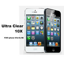 10x Ultra Clear LCD Screen Protector Guard Film for iPhone 5 5S 5C SE Cover