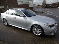 06 BMW 530d M SPORT AUTO 3.0 DIESEL IN SILVER WITH FULL BLACK LEATHER INTERIOR