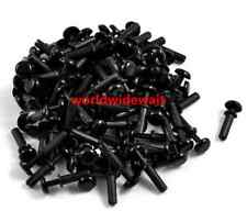 New 9mm Push in Height Black Nylon Clips Fasteners Rivets R3090