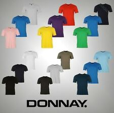 3 Pack Mens Branded Donnay Everyday Casual Plain V Neck T Shirt Top Size S-XXXXL